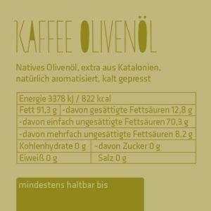 Kaffee-Olivenöl