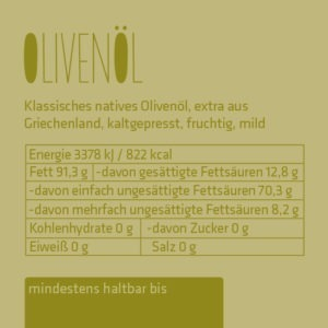 Feinstes Olivenöl